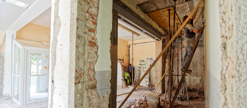 Renovation work on residential property